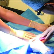 5. Apply RAPID Haematogel to wound